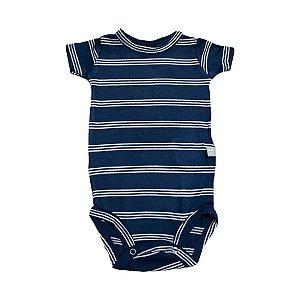 Body Bebê Listras Baby Gut Marinho