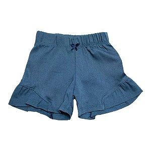 Shorts Bebê Com Recorte Baby Gut Azul