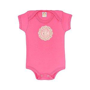 Body Bebê Elefante Meu Bebê Pink