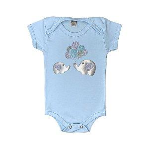 Body Bebê Efefante Meu Bebê Azul