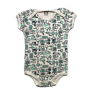 Body Bebê Jardim Meu Bebê Pérola