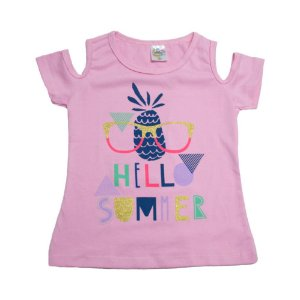 Blusa Infantil Hello Summer Hsa Rosa
