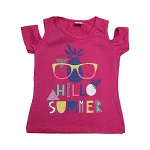 Blusa Infantil Hello Summer Hsa Pink