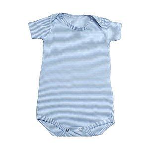 Body Bebê Listras Baby Gut Azul