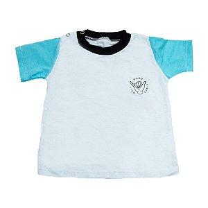 Camiseta Bebê Good Vibes Baby Gut Branca