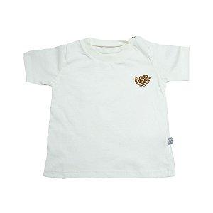 Camiseta Bebê Good Vibes Baby Gut Pérola