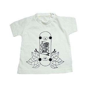 Camiseta Bebê Skate Baby Gut Pérola