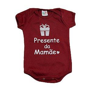 Body Bebê Presente Da Mamãe Jeito Infantil Bordô