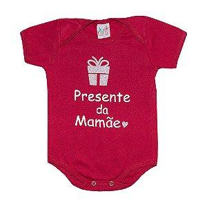 Body Bebê Presente Da Mamãe Jeito Infantil Vermelho