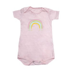 Body Bebê Arco-Íris Baby Gut Rosa