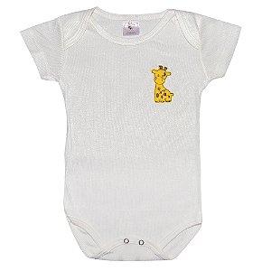 Body Infantil Com Aplique Girafa Pérola