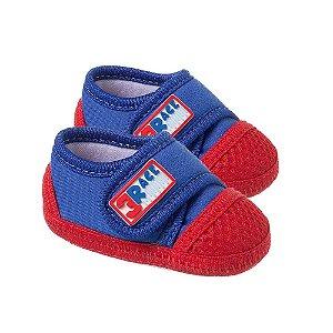 Tênis Bebê Race Com Velcro Royal