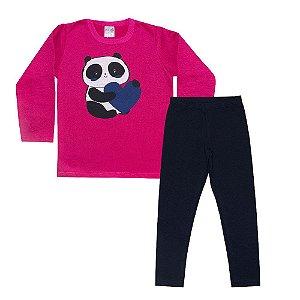 Conjunto Infantil Panda Pink