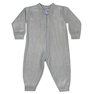 Macacão Bebê Soft Cinza