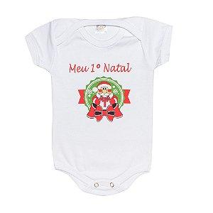 Body Bebê  Meu 1° Natal Jeito Infantil Branco
