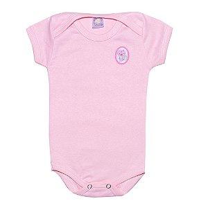 Body Bebê Menina Com Aplique Rosa