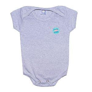 Body Bebê Menino Com Aplique Mescla