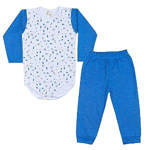 Conjunto Infantil Body Estrelas Royal