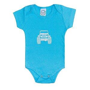 Body Bebê Jeep Azul