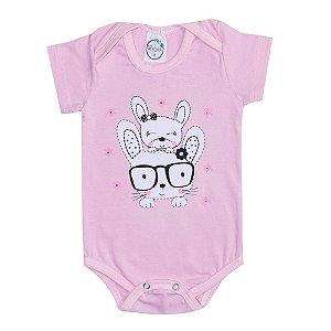 Body Bebê Coelhinhas Rosa