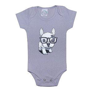 Body Bebê Dog Cinza