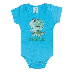 Body Bebê Dino Azul