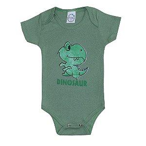 Body Bebê Dino Verde