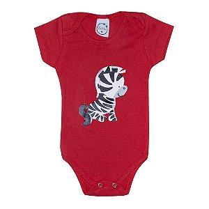 Body Bebê Zebra Vermelho
