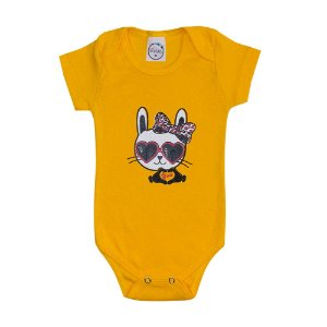 Body Bebê Cat Amarelo