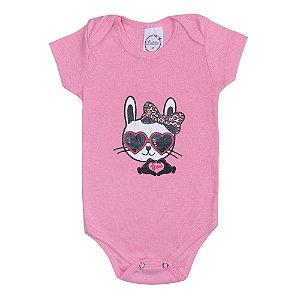 Body Bebê Cat Rosa