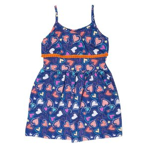 Vestido Infantil Babado e Pompom Laranja