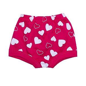 Tapa Fralda Bebê Corações Pink