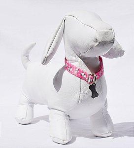 Coleira p - pink cachorrinhos