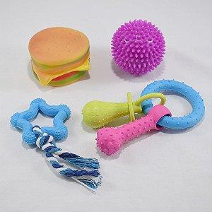 Brinquedos pet - kit 01 - 3 itens