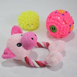 Brinquedos pet - kit 12 - 3 itens