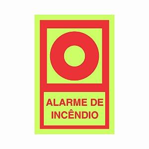 Sinalização de emergência fotoluminescente alarme de Incêndio