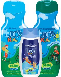 Lorys Kids Green Shake Kit Shampoo + Condicionador + Sabonete Liquido
