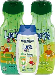 Lorys Baby Erva Doce Kit Shampoo + Condicionador + Sabonete Liquido