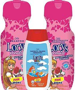 Lorys Princess Pink Shake Kit Shampoo + Condicionador + Sabonete Liquido