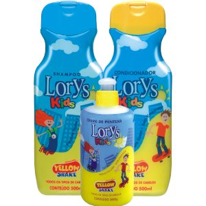 Kit Lorys Kids Yellow Shampoo e Condicionador e Creme