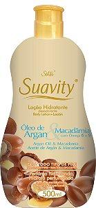 Loção Deo Hidratante Suavity Óleo De Argan E Macadamia 500ml