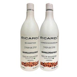Kit Ricardi Shampoo e Condicionador Oleo Macadamia 1L