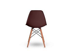 1 Cadeira Base Madeira Eiffel Charles Eames Wood De Jantar Marrom