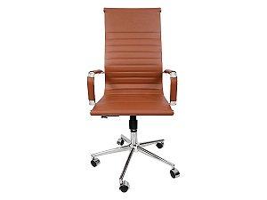 1 Cadeira Presidente Giratória Esteirinha Charles Eames Marrom