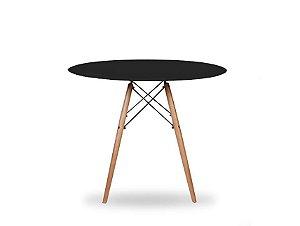 1 Mesa Redonda Branca E Preta 100 Cm Charles Eames