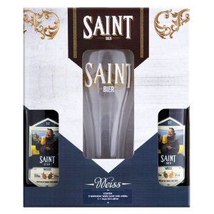 Kit Saint Bier Weiss 2 garrafas 500ml + copo weiss.