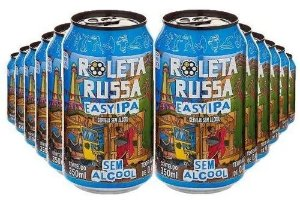 Pack Roleta Russa Easy Ipa Sem Álcool e Sem Glúten 350ml com 12 un.