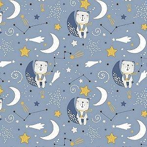 Tricoline Ursos Dormindo 50cm x 1.50m largura