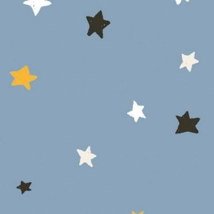Tricoline ESTRELINHA SWEET DREAMS AZUL 50cm x 1.50m largura