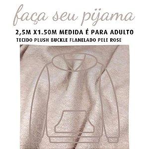 Tecido Buckle Flanelado Pele Rosê para Pijama Adulto 2.5x1.60m